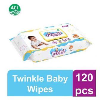 Twinkle Baby Wipes Jar - 120 pcs