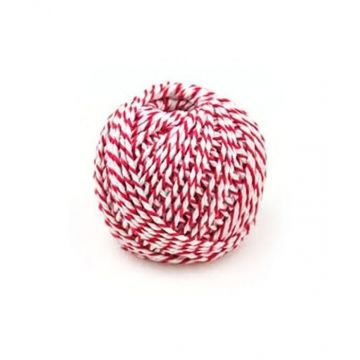 Red and White Thread Bundle