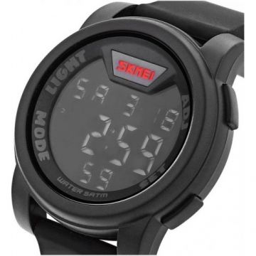 SKMEI 1218 LED Digital Watch - BLACK 1