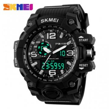 SKMEI 1155 Men LED Digital Quartz Watch - BLACK 17