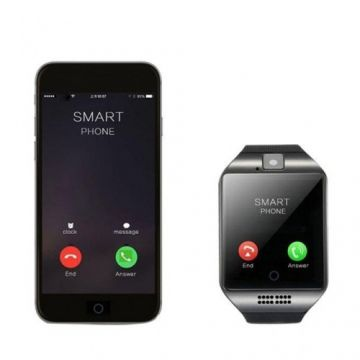 Q18 - Single SIM Smartwatch Android Mate - Black