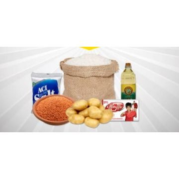 Package One (1 Day) (Rice, Salt, Oil, Soaps, Potato, Dal)