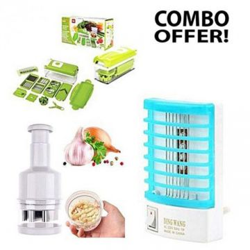Combo Pack Nicer Dicer Plus and Vegetable Chopper and Mosquito Lamp