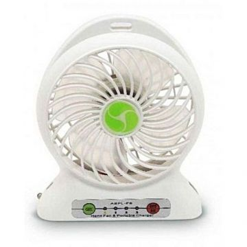 Deals Pk 2 in 1 - Rechargeable Portable Mini Power Bank & Fan - White