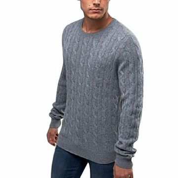 Light Gray Wool Jumper For Men