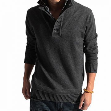 Deep Gray Wool Jumper