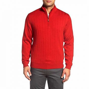 Red Wool Sweater For Men