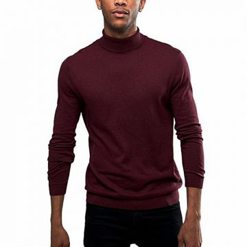 Maroon Wool Sweater For Men