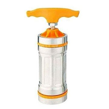 Stainless Steel Hand-Held Noodles Maker - Silver and Orange