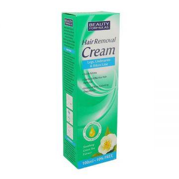 Beauty formulas hair removing cream 110 ml green tea