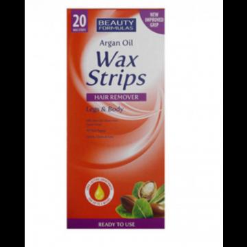 Beauty formulas argan oil wax strips 20's