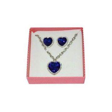 Heart Shape Jewelry Set  - Blue