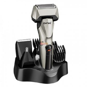 Gemei GM-576 Men Series 6 in1 For Face And Body Rechargeable Grooming Kit