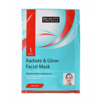 Beauty formulas radiate & glow facial mask