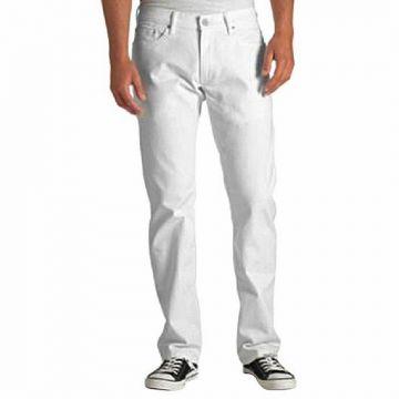 White Twill Casual Gabardine Pant For Men
