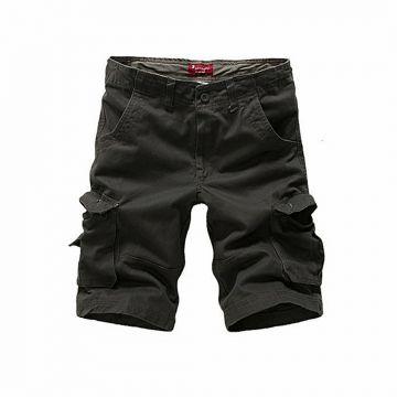 Black Cargo Casual Shorts For Men