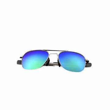 Sky Blue Metal Sunglasses For Men