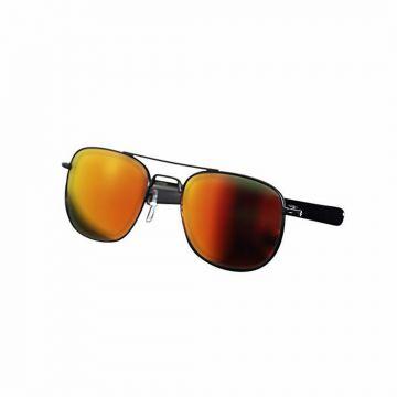 Black and Orange Metal Sunglasses For Men