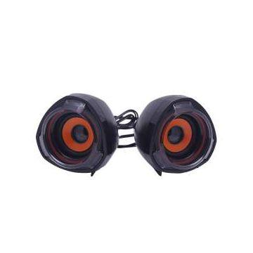 Mini USB Speaker - Black and Orange