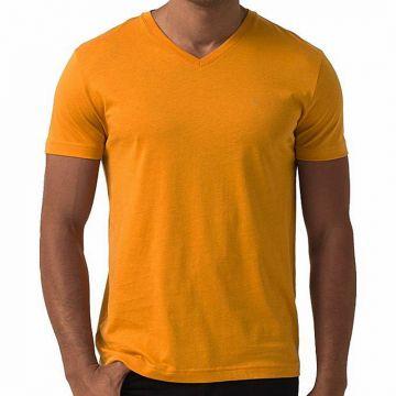 Light Orange PK Casual Short Sleeve T-Shirt For Men
