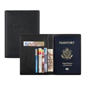 Leather Passport Holder Cum  Credit Card Holder Wallet