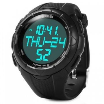 Skmei 1122 LED Sports Men Wrist Watch - BLACK 1