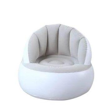 Inflatable Air Sofa Arm Chair -  White & Grey