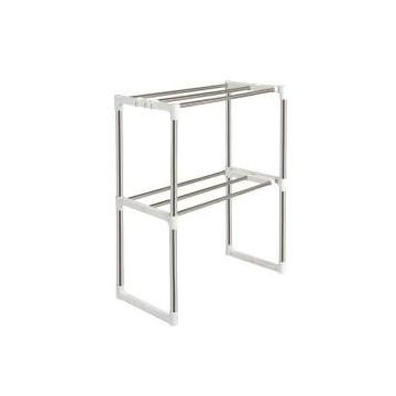 Multifunctional Oven Organizer Rack  - White and Silver