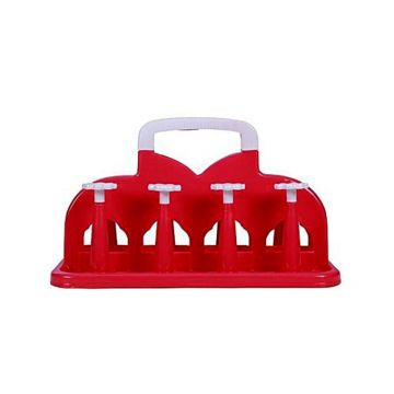 Plastic Glass Stand - Red