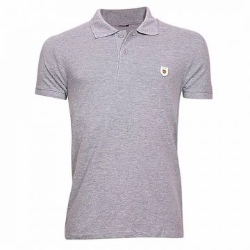 Cotton-casual-short-sleeve-polo-gray