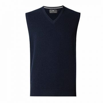 Navy-blue-wool-sleeveless-sweater-for-men