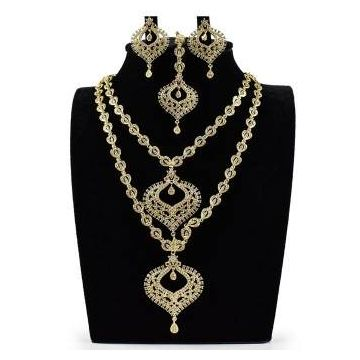 Indian Diamond Cut Jewellery Set For Women