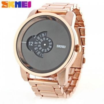 SKMEI 1171 Men Quartz Watch - GOLDEN