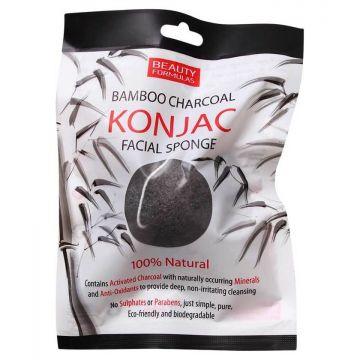 Beauty formulas bf bamboo charcoal konjac sponge 100 ml