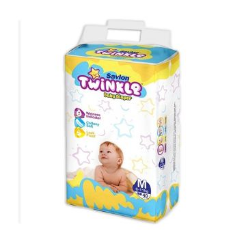 Twinkle Baby Diaper - Medium - 40 pcs