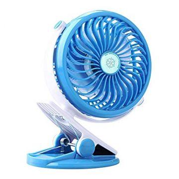 Portable Rechargeable Clip Mini Fan – Blue