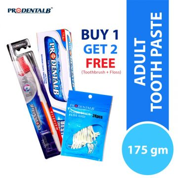 Prodental B Toothpaste 175G (Free Toothbrush & Dental Floss)