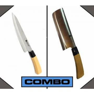 Combo of Kitchen Small Knife 1 PCs - Wooden and Silver
