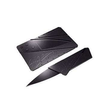 Credit Card Army Folding Knife - Black