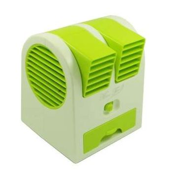 Rechargeable Mini Air Cooling Water  Spray Fan - Green
