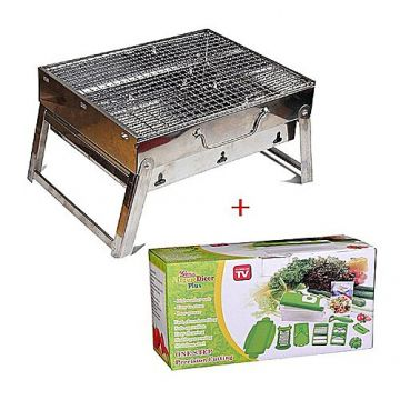 Master Kitchen Outdoor Portable BBQ Stove and Nicer Dicer Plus