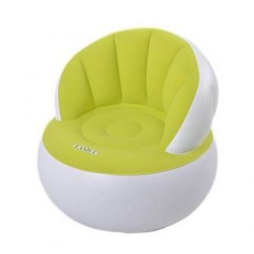 Parent - Child Portable  Flocking Fast Inflatable Lazy Sofa - Green
