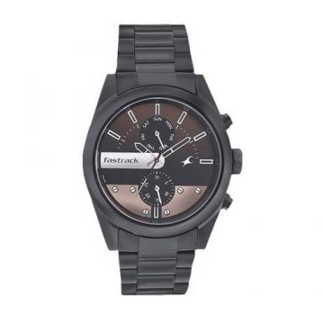 3120NM01 Stainless Steel Analog Watch For Men - Black