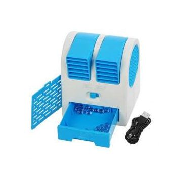 Rechargeable -  Mini - Air Cooling - Water - Spray - Fan  - Blue