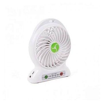 Electric Portable Mini USB Rechargeable Desktop Fan  - White