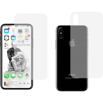Full 360 front and back Cover Screen Protector Coverage Curved TPU for iPhone x