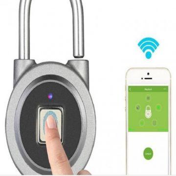 Smart fingerprint padlock door lock IP65 waterproof