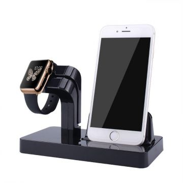 Charging stand cradles for Iphone & Apple watch Apple 38mm/42mm desktop charger stand - Black