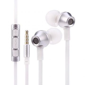 REMAX RM-610D STEREO IN-EAR EARPHONE HEADPHONE WITH MIC - White