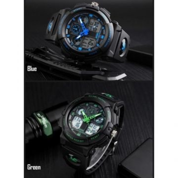SKMEI 1270 Men Watch Dual Display Stopwatch Alarm Sport Fashion
